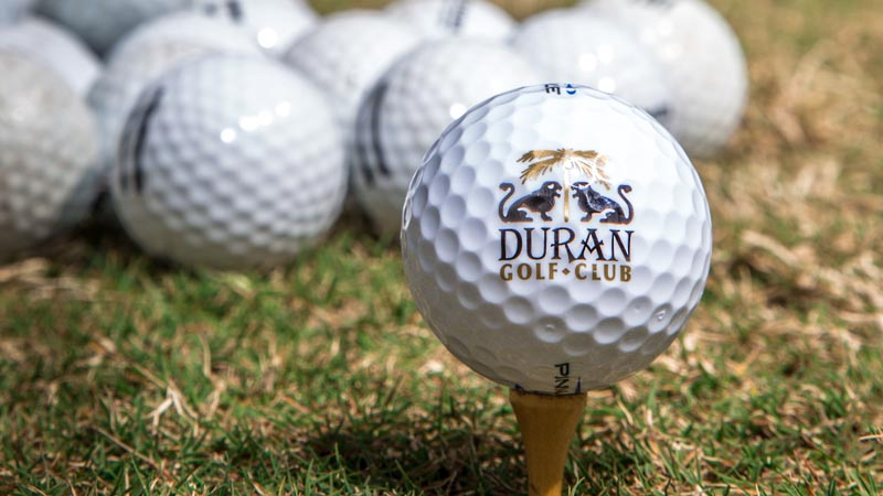 A cluster of Duran Golf Club golf balls